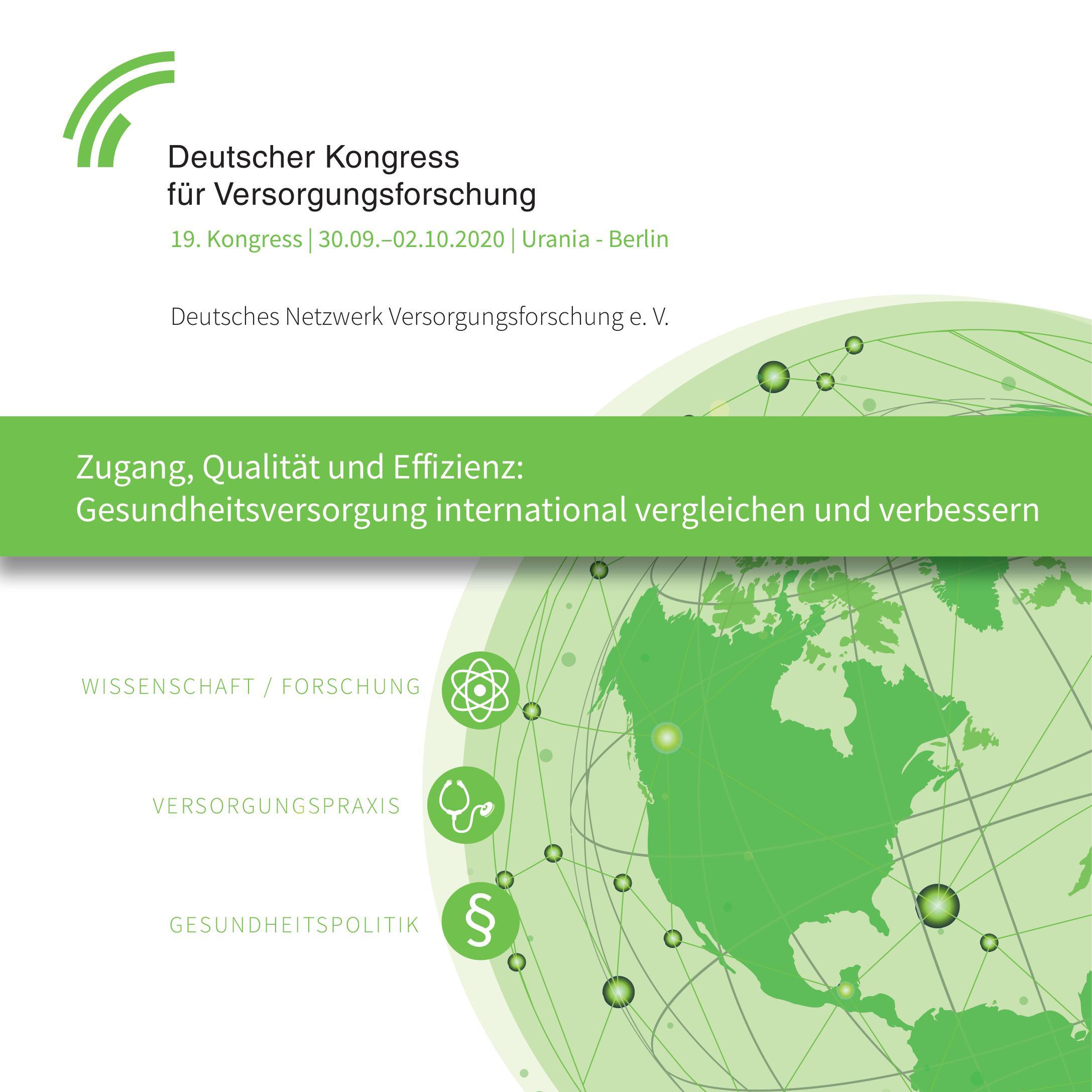 19. Deutscher Kongress für Versorgungsforschung